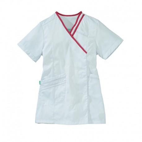 Blusa bianca e rosa Lafont