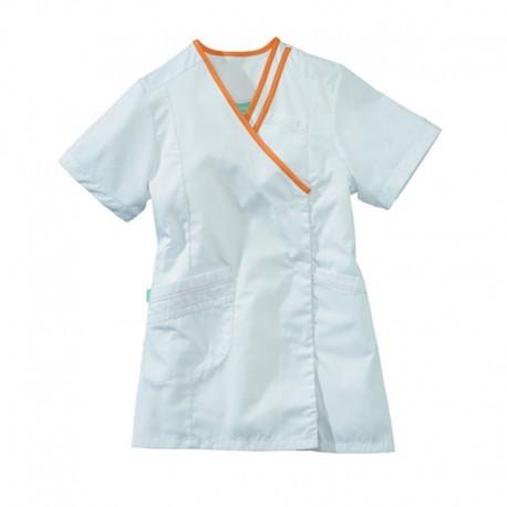 blusa bianca e arancio Lafont