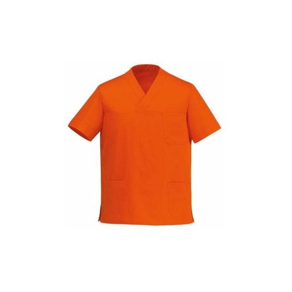 Casacca da medico collo a V arancio