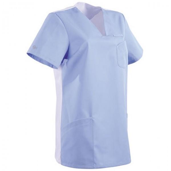 Tunica medica blu cielo e bianca 2MAT