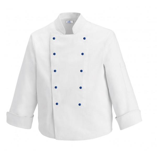 Giacca da cucina per bambini con bottoni blu