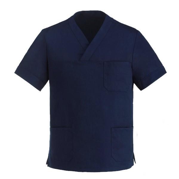 Tunica sanitaria blu marino con scollo a V Manelli