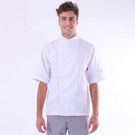 Giacca da cucina bianca con retro traspirante