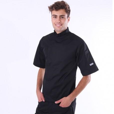 Giacca da cucina nera con retro traspirante – MC
