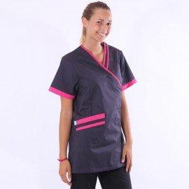 blusa carbone e rosa Lafont