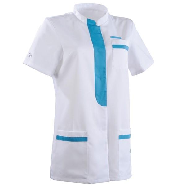 Casacca da medico 2KIM bianca e azzurra