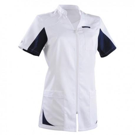 Casacca medica 2SAN bianca e blu navy