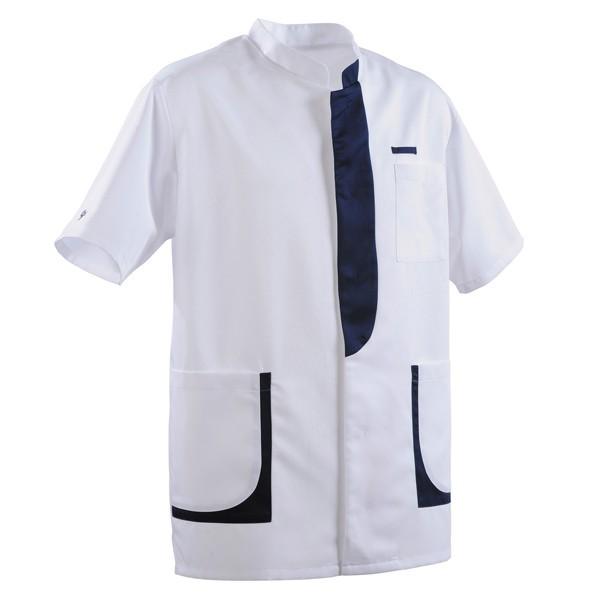 Casacca sanitaria Uomo Bianco & Blu marino