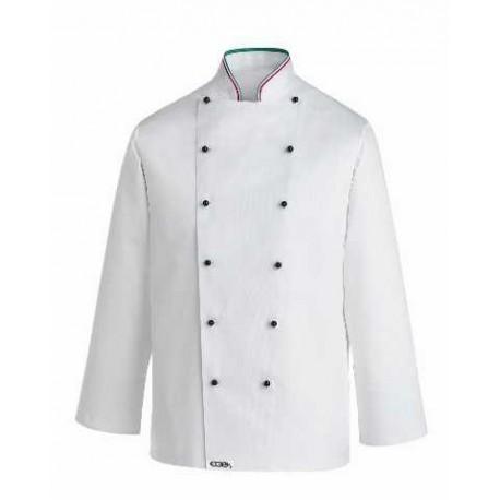 Giacca da cucina con colletto nei colori della bandiera italiana