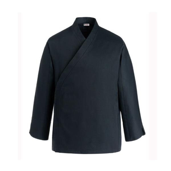 Giacca da cucina giapponese - Giacca da cuoco a kimono nera e35c18f406d7