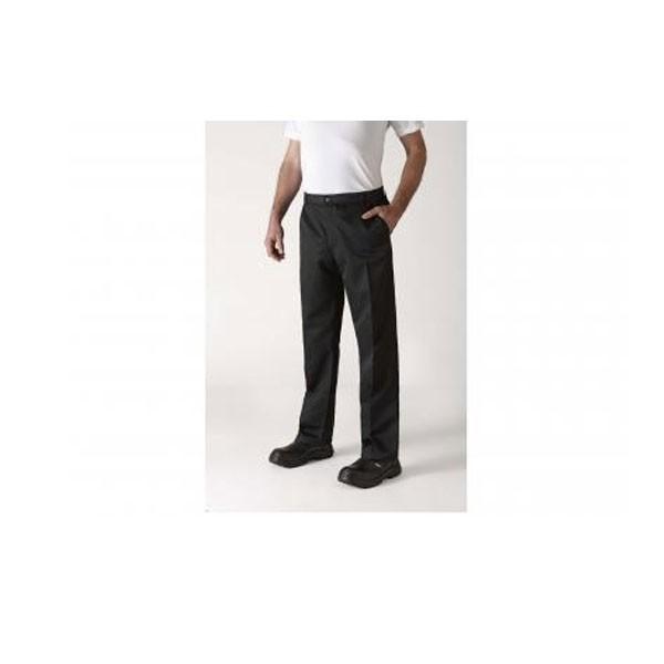 Pantalone da cucina nero a pince Robur
