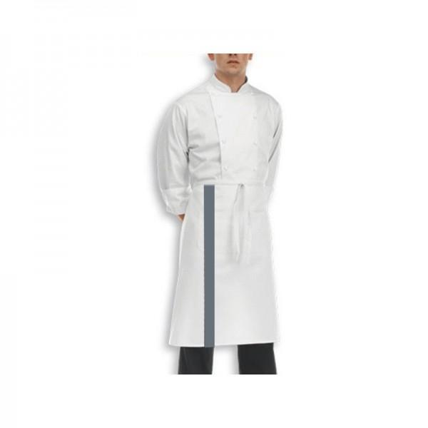 Grembiule bianco con striscia colorata - 70 cm