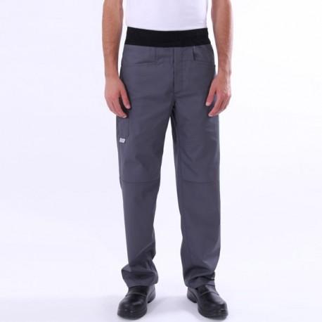 Pantaloni da cucina traspiranti grigi
