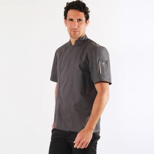 Giacca da cucina grigia Nero - Robur