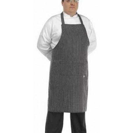 Grembiule da cucina per taglie forti a strisce grigie