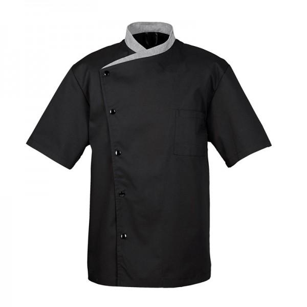 Giacca da cucina nera con colletto grigio - Julioso BRAGARD