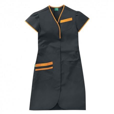 Casacca da lavoro nera e arancione
