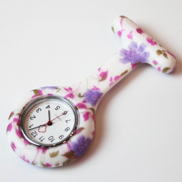 Orologio infermiera fiori