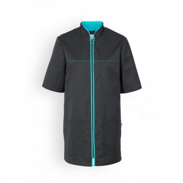 Casacca medica mista nera con bordini - Clinic Dress