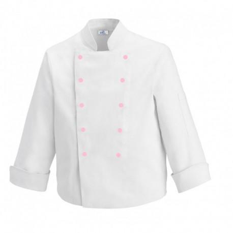 Giacca da cucina per bambini con bottoni rosa
