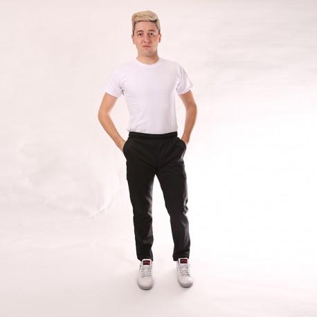 Pantalone da cucina nero tasche laterali