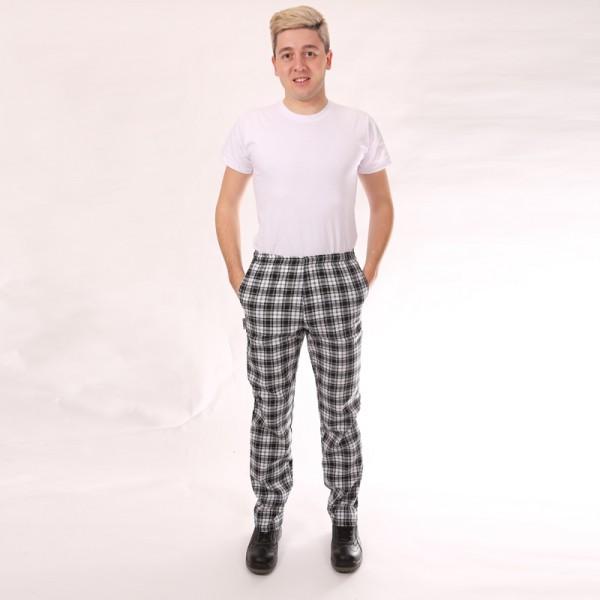 Pantaloni a quadri neri