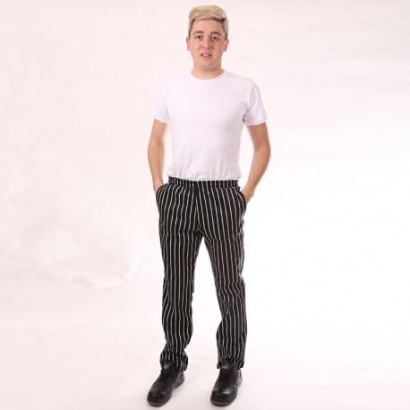 Pantalone da cucina a righe larghe