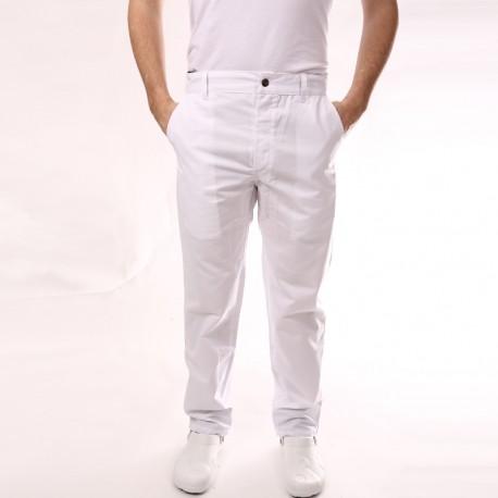 Pantalone da cucina bianco con piega