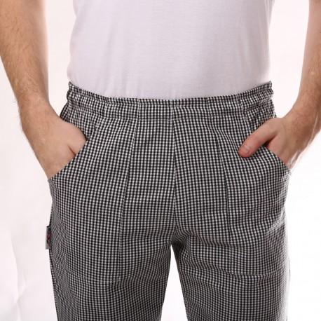 Pantaloni da cucina a quadretti neri