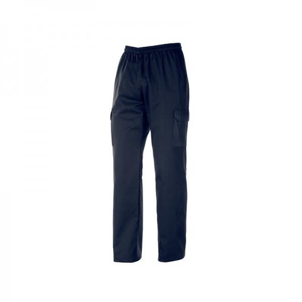 Pantaloni da cucina blu navy con tasche laterali