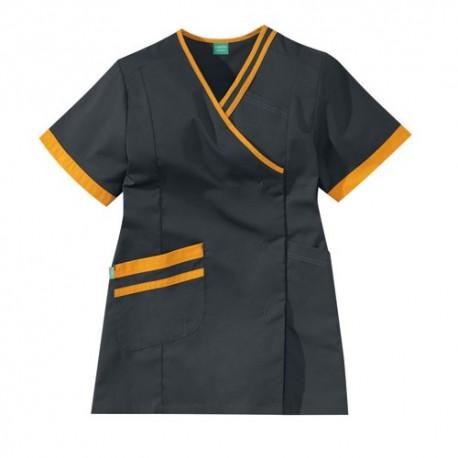 Blusa carbone e arancio Lafont