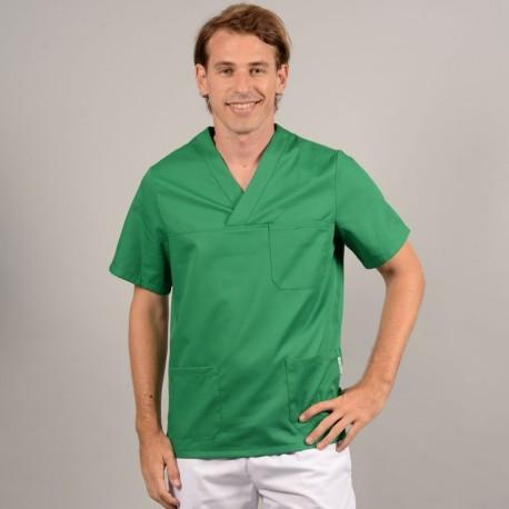 Tunica medica verde con scollo a V Manelli
