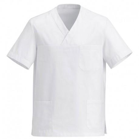 Tunica medica bianca con scollo a V Manelli