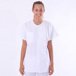 Casacca medica bianca asimmetrica