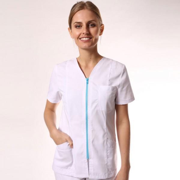 Camice medico con zip colorata