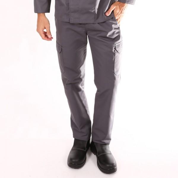 Pantalone da cucina grigio tasche laterali