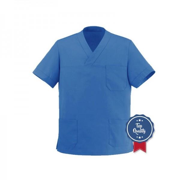 Tunica medica blu con scollo a V Manelli
