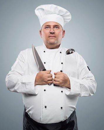 Abbigliamento da cucina per taglie forti